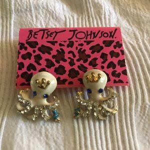 Betsey Johnson Octopus Earrings